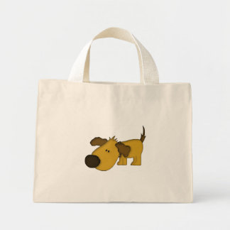 Cute sniffing dog tote reusable shopping bag