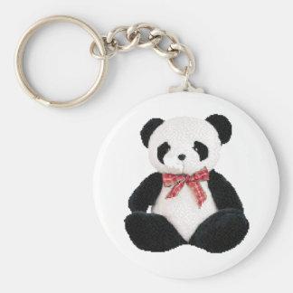 Cute Stuffed Panda Basic Round Button Key Ring