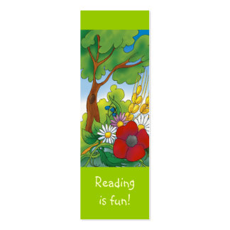 Cute Sunny Day bookmark for young books lovers! Pack Of Skinny Business Cards