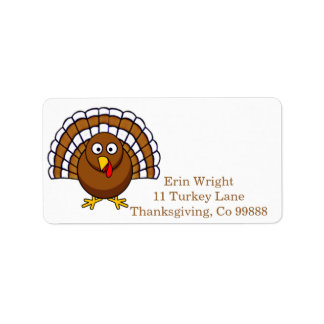 Cute Thanksgiving Turkey Address Labels