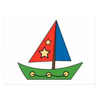 Cute Toy Sailboat Postcard