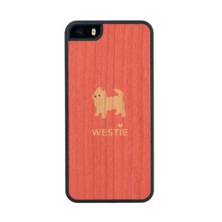 Cute West Highland Terrier - I Love Westies Wood iPhone SE/5/5s Case