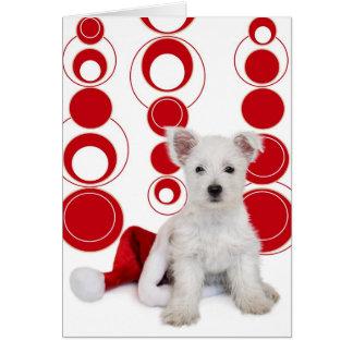 Cute Westie Pup Christmas Card