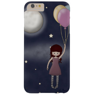 Cute Whimsical Young Girl with Balloons Barely There iPhone 6 Plus Case