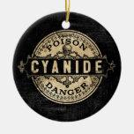 Cyanide Vintage Style Poison Label Round Ceramic Decoration
