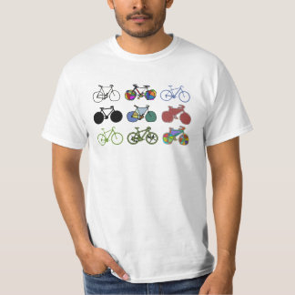 cycling/biking . grouped bikes t-shirts