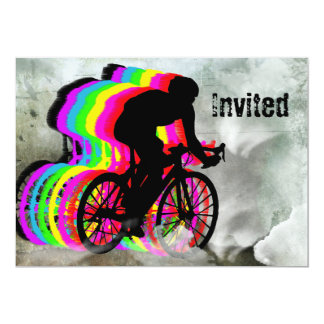 Cycling in the Clouds 13 Cm X 18 Cm Invitation Card