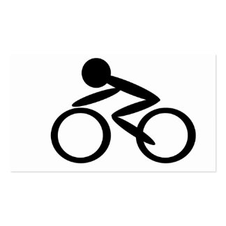 Cycling Stick Figure Pack Of Standard Business Cards