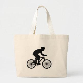Cyclist Jumbo Tote Bag