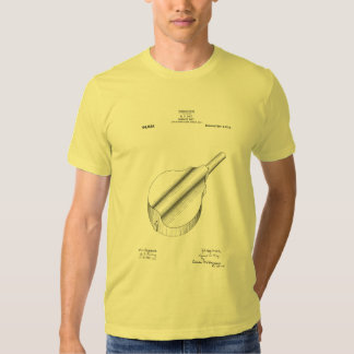 Cylinder back mandolin patent T-shirt, with text Tee Shirts