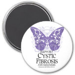 Cystic Fibrosis Butterfly 7.5 Cm Round Magnet