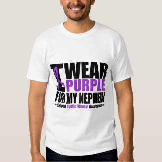 Cystic Fibrosis I Wear Purple For My Nephew Tshirt