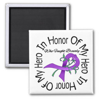 Cystic Fibrosis In Honor Of My Hero Square Magnet