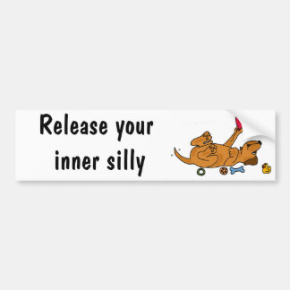 CZ- Release your Inner Silly - Puppy Bumper Sticker