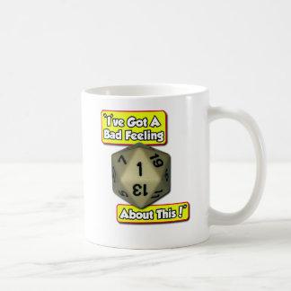 d20 Bad Feeling Basic White Mug