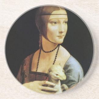 da Vinci's Portrait of Cecilia Gallerani Beverage Coasters