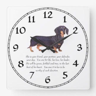 Dachshund Keepsake - Female Wall Clocks