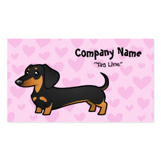 Dachshund Love (smooth coat) Pack Of Standard Business Cards