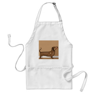 Dachshund vector stylized standard apron
