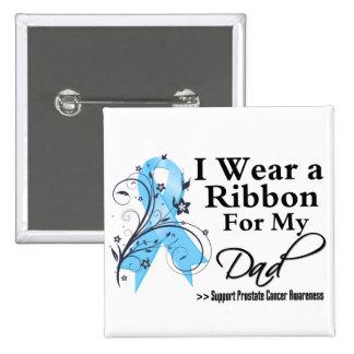 Dad Prostate Cancer Ribbon 15 Cm Square Badge