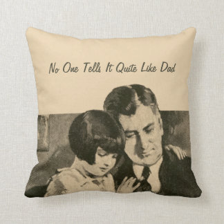 Daddy Girl Father Vintage 1920s Reading Daughter Cushions
