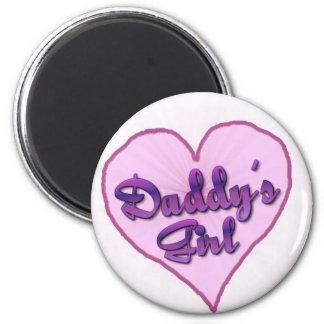 "Daddy""s Girl 6 Cm Round Magnet"