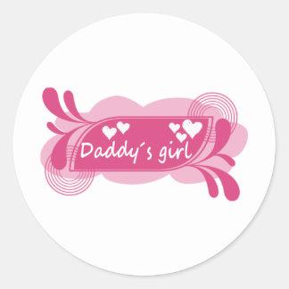 Daddy´s Girl Cute Design! Round Sticker