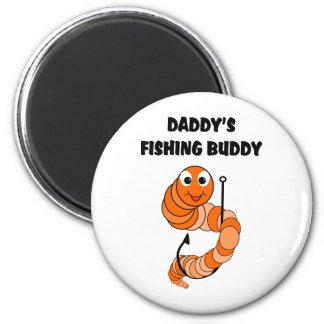 Daddy's Fishing Buddy 6 Cm Round Magnet