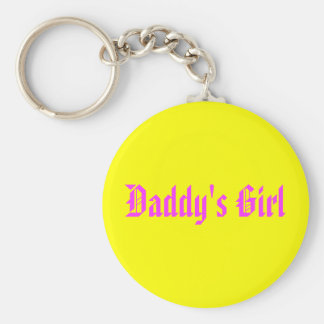 Daddy's Girl Basic Round Button Key Ring