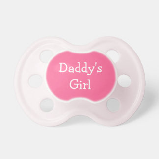 Daddy's Girl pink baby girl Pacifier