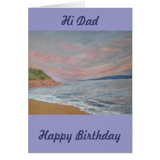 Dad's Birthday Orcombe Point Exmouth Devon UK Greeting Card