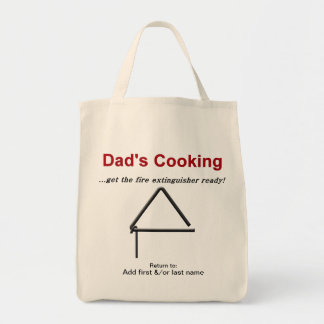 Dads Cooking Get the Fire Extinguisher Ready Grocery Tote Bag