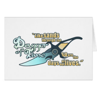 Dagger of Time Greeting Card