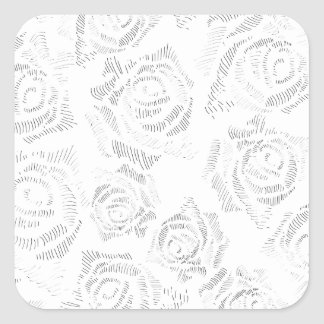 Dainty Roses Square Sticker