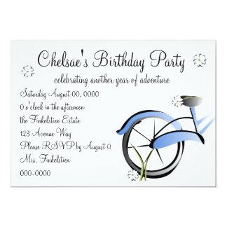Daisy Bike Ride 13 Cm X 18 Cm Invitation Card