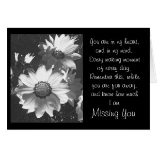 Daisy Black and White Note Card