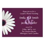 Daisy Purple Couple's Shower Invitations
