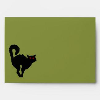 Damask and Green Invitation Envelope