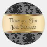 Damask Customer Thank You Stickers