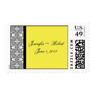 Damask Delight Lemon Yellow Postage
