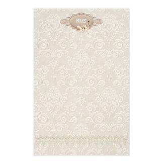 Damask  Swan Elegance Stationery Design