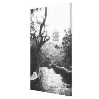 Danang Vietnam, Temple View Marble Mountain Stretched Canvas Print