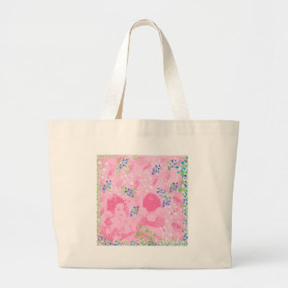 Dance 妓 with flower and invitation cat jumbo tote bag