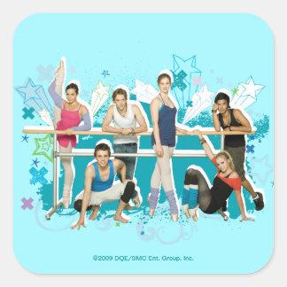 Dance Academy Cast Graphic Square Sticker