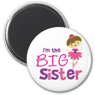 Dance Ballet Big Sister 6 Cm Round Magnet