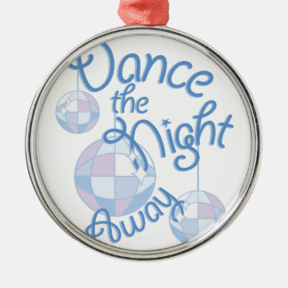 Dance Night Away Silver-Colored Round Decoration
