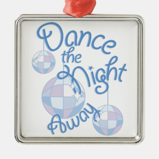 Dance Night Away Silver-Colored Square Decoration
