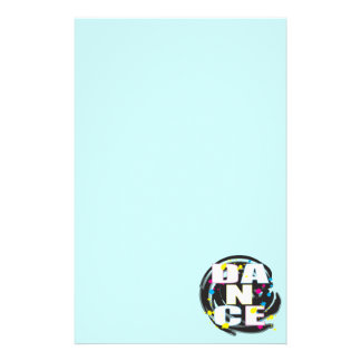 Dance Paint Blue Customized Stationery