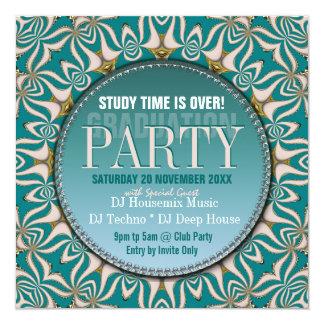 Dance Party Time Graduation Invitations