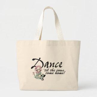 Dancing with Cows Jumbo Tote Bag